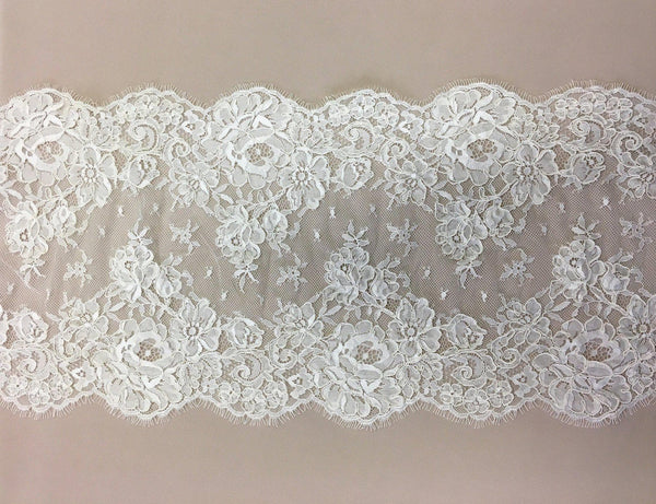Corded Floral Trim (1483t) Ivory