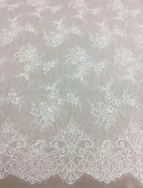 Corded Floral Lace (1489) Ivory