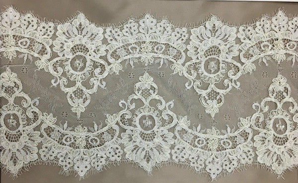Beaded Lace Trim (1494bt) Ivory