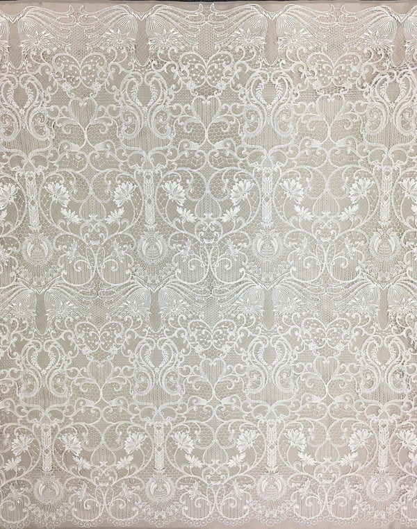 Guipure Paisley Floral Lace (1522) Ivory
