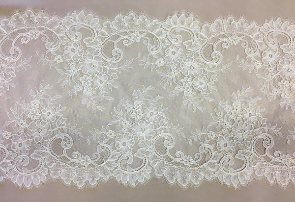 Fine Corded Lace Trim (1524t) Ivory