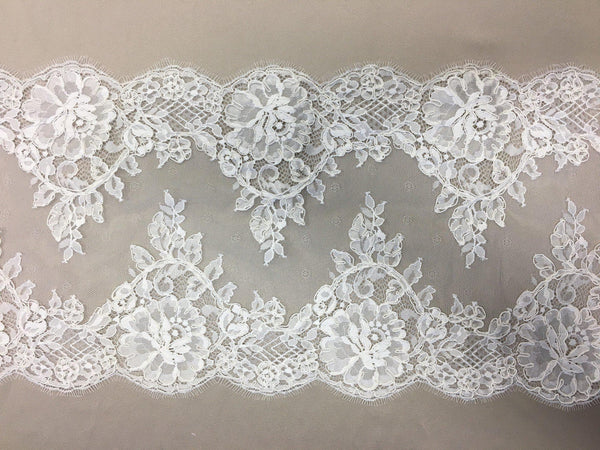 Fine Corded Lace Trim (1525t) Ivory