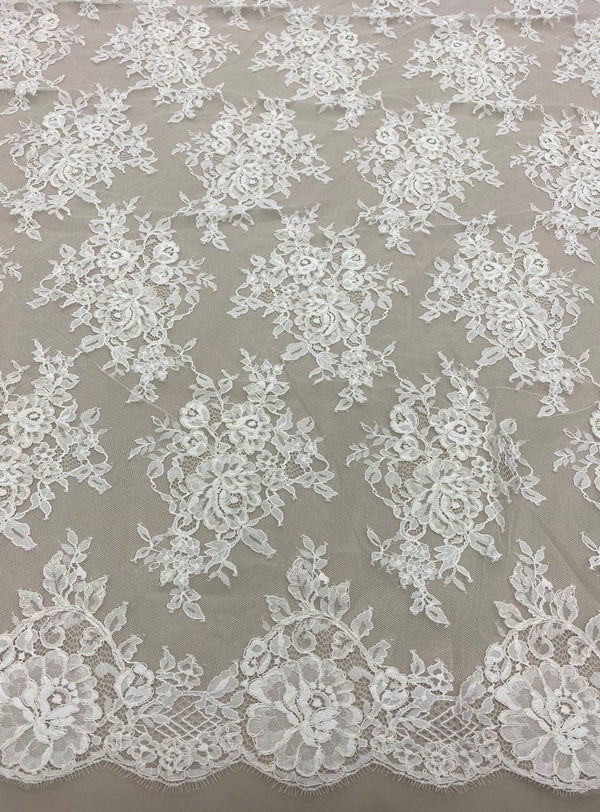 Fine corded lace (1525) Ivory