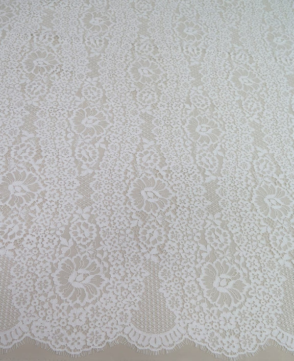 Fine Corded Lace (1526) Ivory