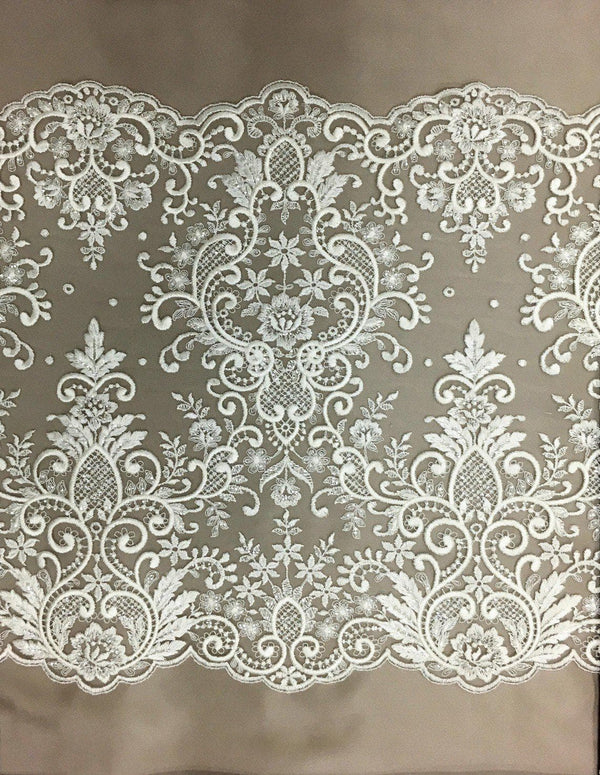 Beaded Lace Trim (1573bt) Ivory