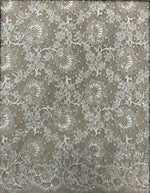 Hand Beaded Lace (1590bd) Ivory