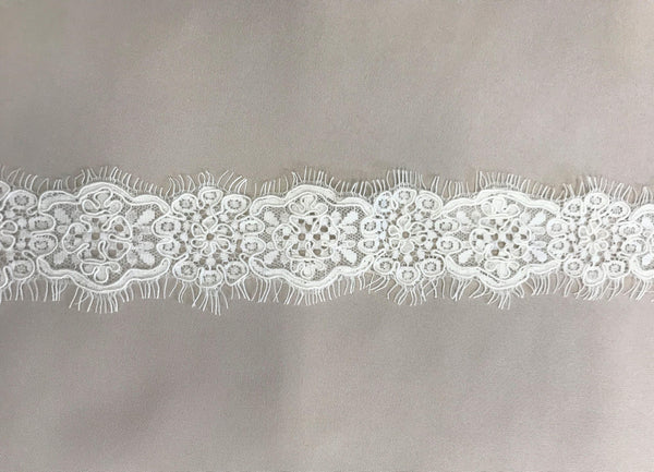 Corded Lace Trim (1628T) Ivory
