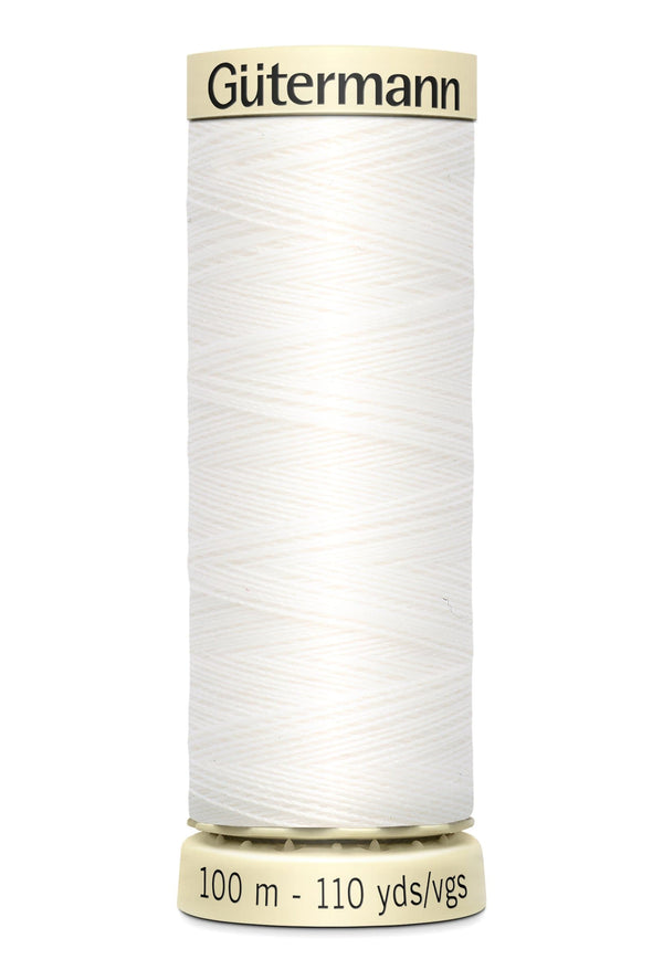 Gutermann Polyester Thread 100m #800 White