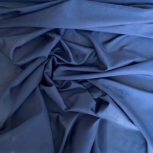 Silk Cotton Voile Navy