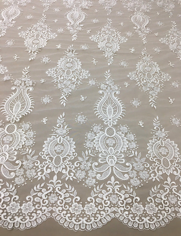 Embroidered Tulle (VJ12901) Ivory