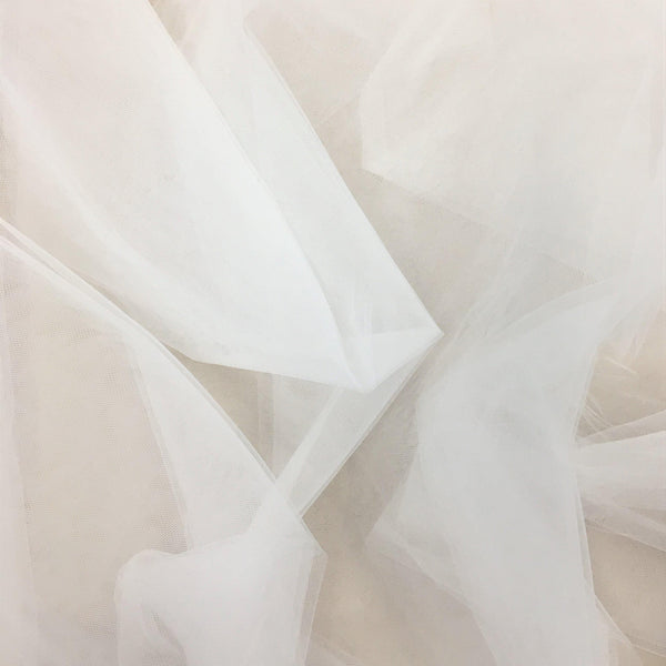 Bridal Tulle Silk White
