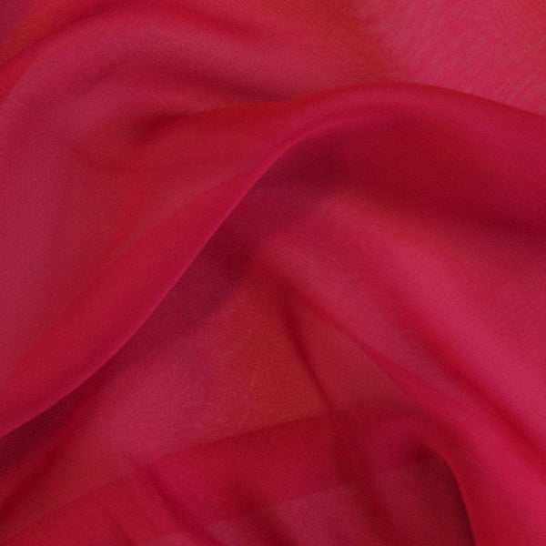Satin Chiffon Deep Red