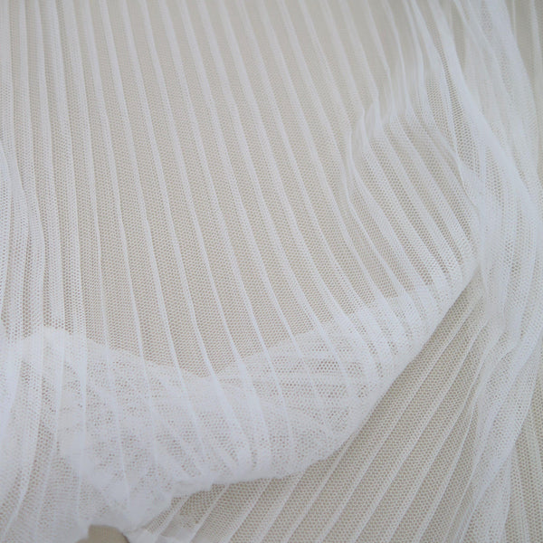 Pleated tulle Ivory