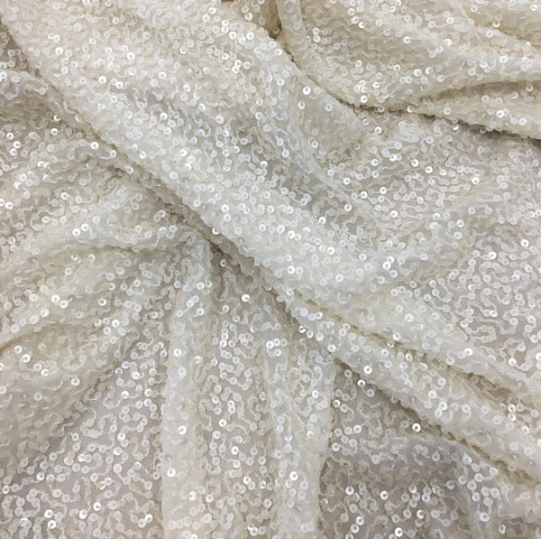 Sequin Georgette (20209) Ivory