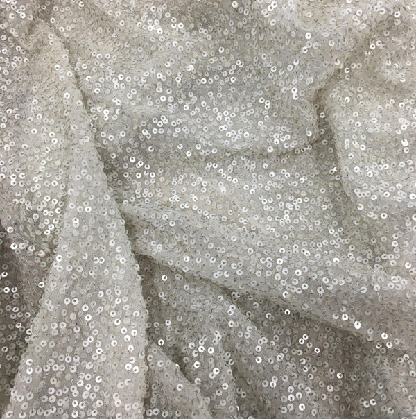 Sequin Georgette (20209) Platinum
