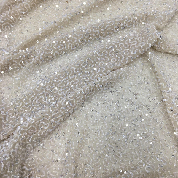 Sequin Georgette (K22980 1/Oyster)