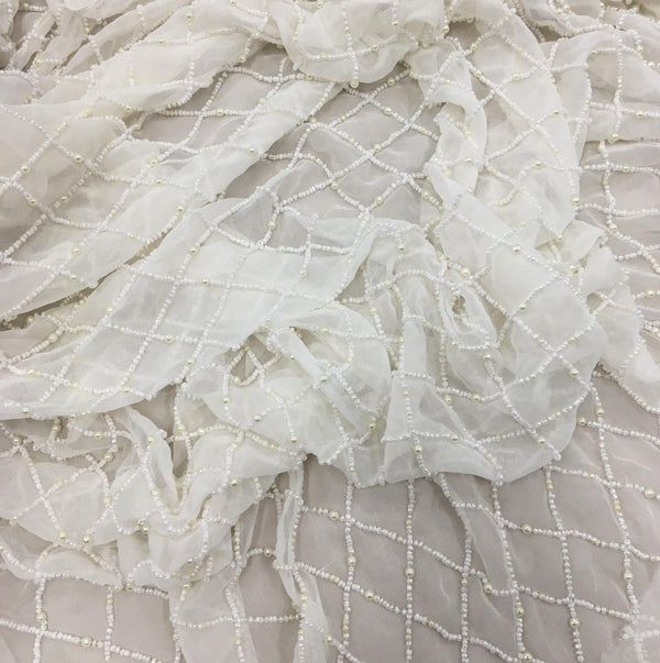Beaded Lattice Design (K24734) 1/Ivory