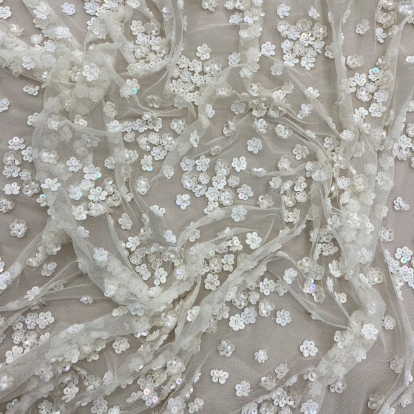 Floral Beaded Tulle (K25124) Ivory