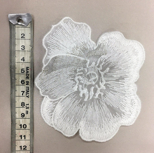 Flower Large Ivory Silver