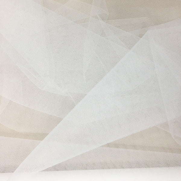 Bridal Net Silk White