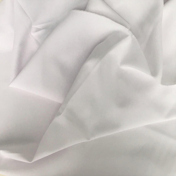 Stretch Polyester Crepe White