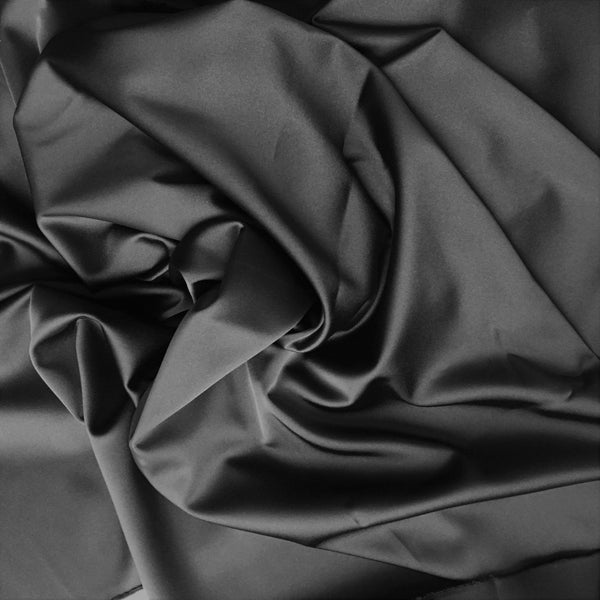 Stretch Polyester Satin Black