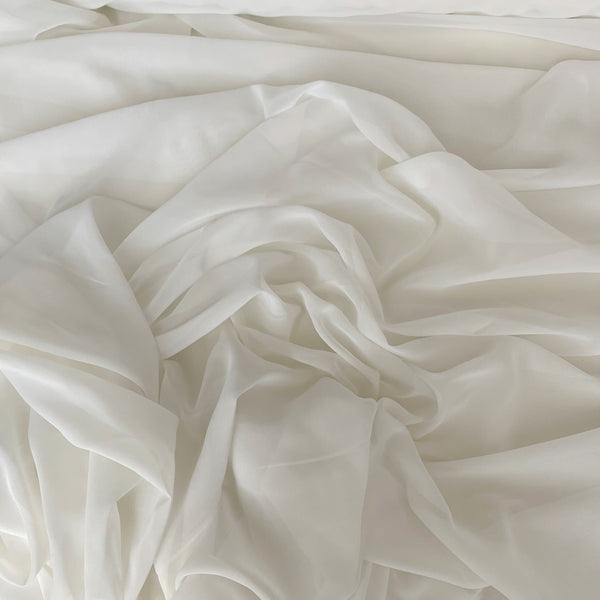 Recycled Polyester Chiffon Ivory