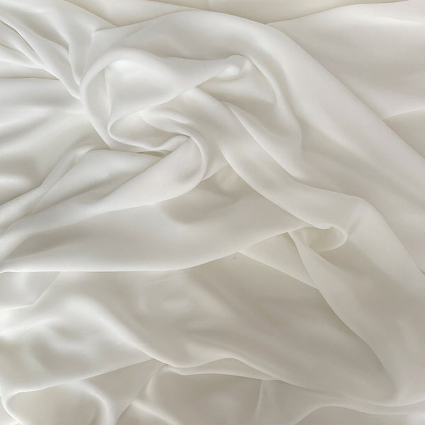 Recycled Polyester Double Georgette Ivory