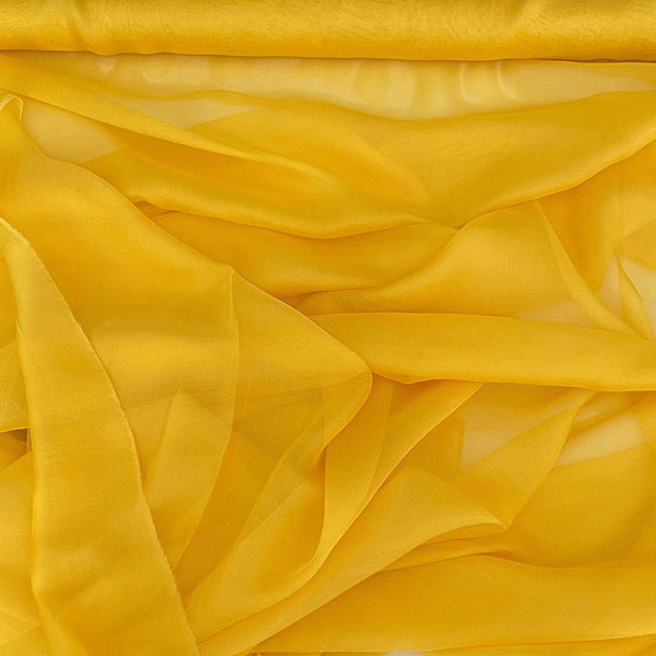 Satin Chiffon Yellow