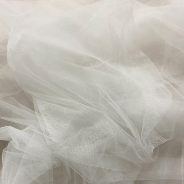 Soft Tulle Silk White