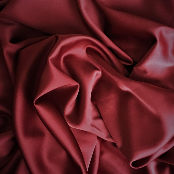 Stretch Polyester Satin Burgundy