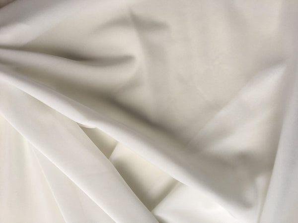 Georgette Stretch Silk White
