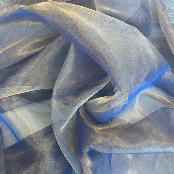 Tissue Organza Blue Gold