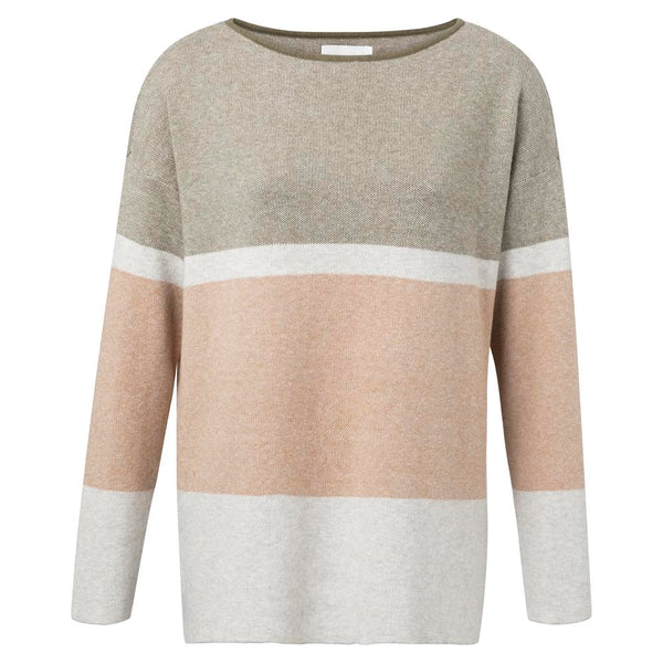 Boatneck Sweater with Stripe