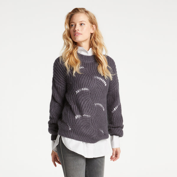 Open Cable Knit Sweater