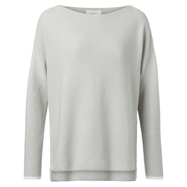 Cotton Boat Neck Sweater - Grey | Madison Boutique | Buy Online in South Africa