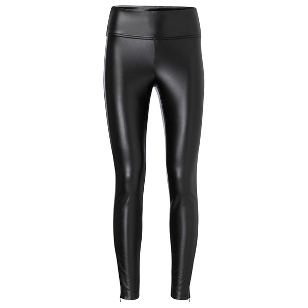 H/Waisted Faux leather Pants