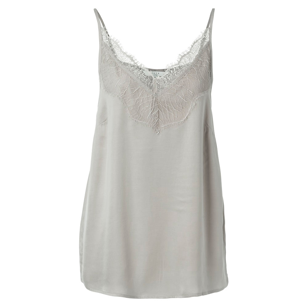 Cami Lace Top - Silver
