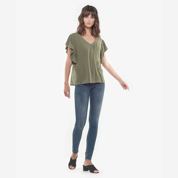 Pulp Green Cast Denim Jeans