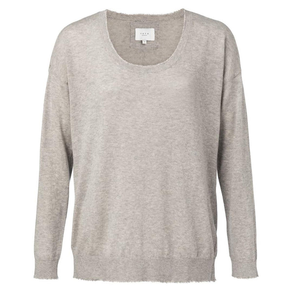 Soft Sweater With Raw Edges