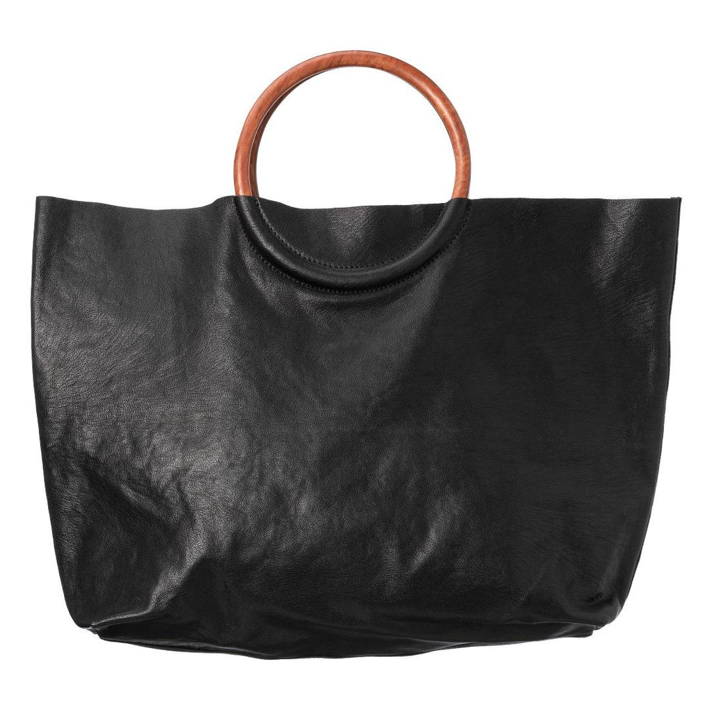 Suede Shopper - Black