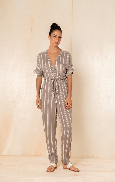 Atlas Jumpsuit in Taupe