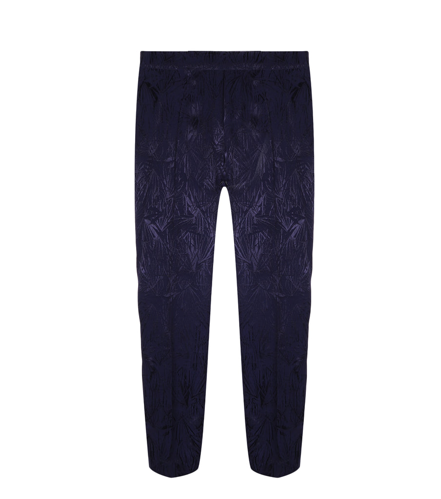 Midnight Blue Embosed Trousers