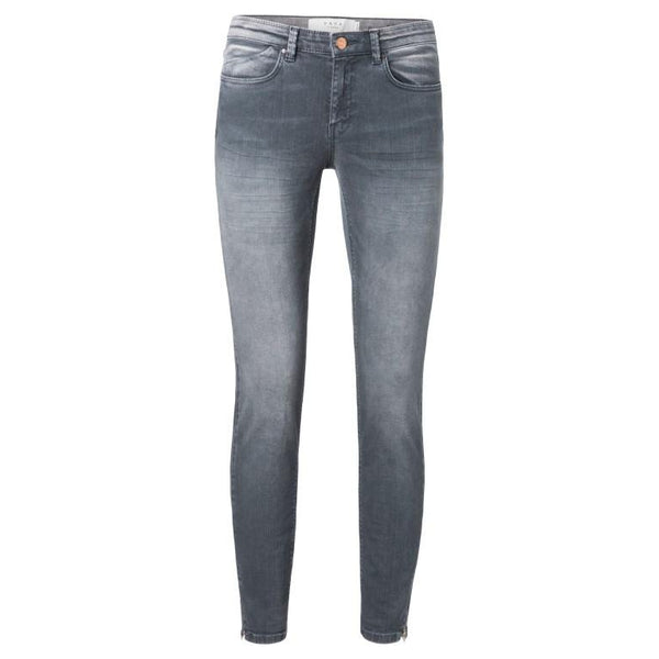 Yaya Grey Jeans With Zip