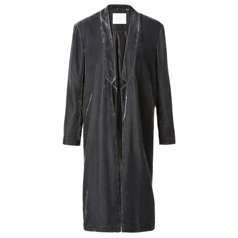 Yaya Velvet Long Coat