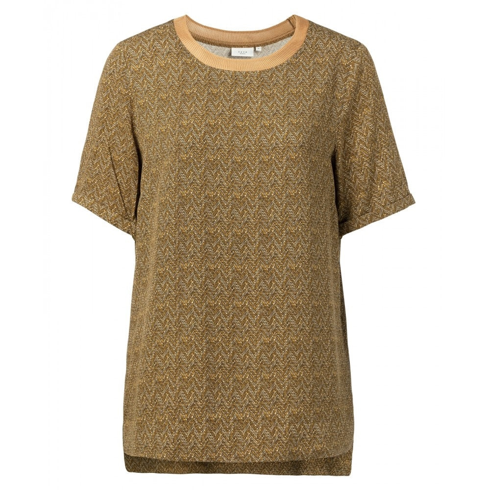 Zigzag Dusty Oker T-Shirt