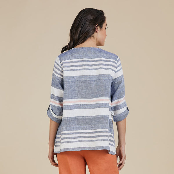 Perfect Positano Stripe Linen Top