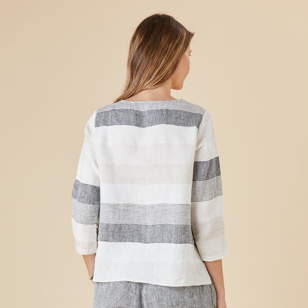 Tunisian Multi Stripe Top