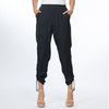 Navy Luxe Rouche Pants