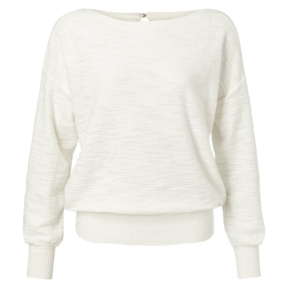White Cotton Oversized Pullover